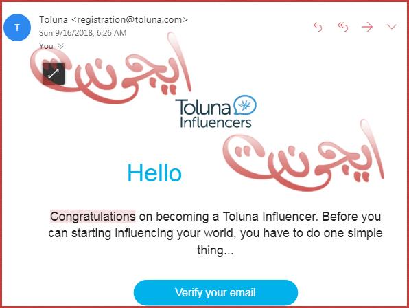 شرح الربح من موقع Toluna