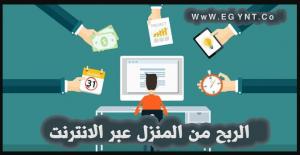 الربح من المنزل عبر الانترنت