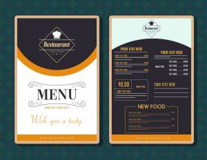 تصميم منيو مطاعم جاهزة
